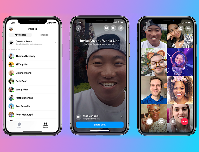 Facebook Messenger Rooms is mobile friendly