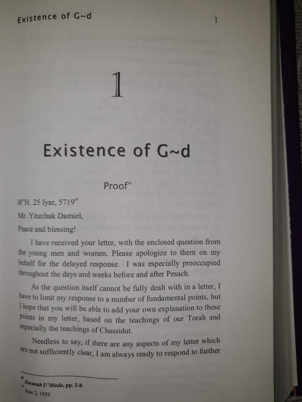 Existence of G-d