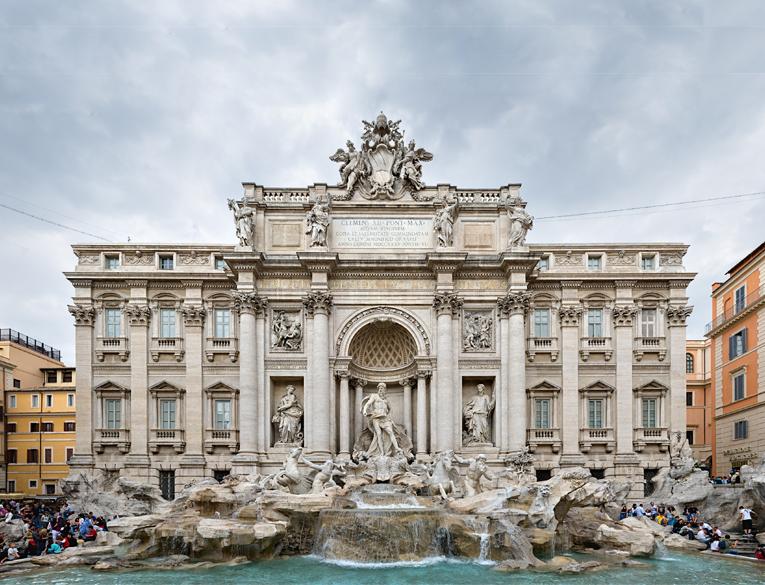 Trevi Fountain (Fontana di Trevi Roma) in Rome