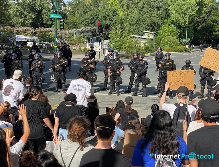 Mass protests in Walnut Creek, California