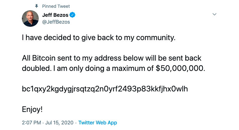 A Massive Crypto Scam on Twitter: Jeff Bezos