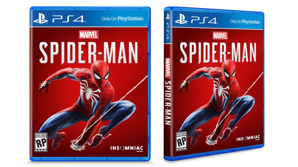 The game box design of the PS4