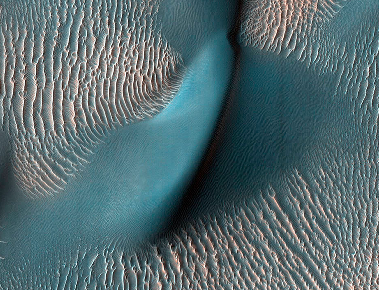 NASA HiRISE Finds a Dune and Ripples