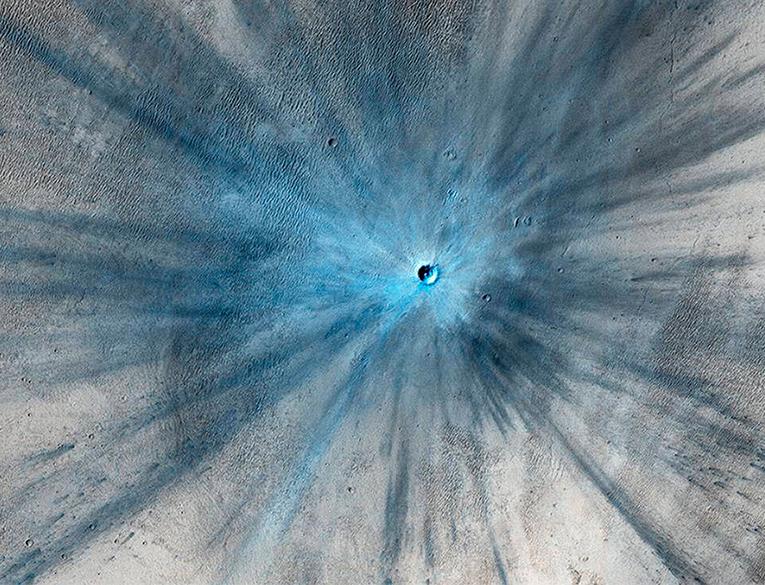 NASA A Spectacular New Martian Impact Crater