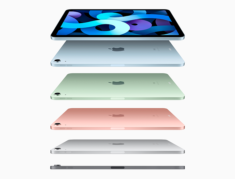 The New iPad Air will come in Space Gray, Silver, Rose Gold, Sky Blue, and Green