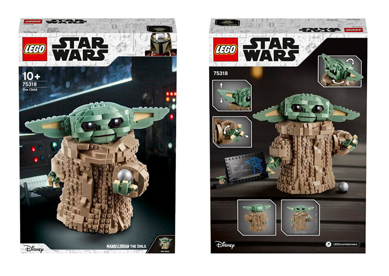Lego Baby Yoda set box design