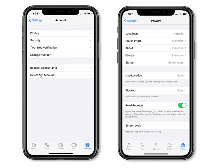 How to enable Touch ID and Face ID in WhatsApp
