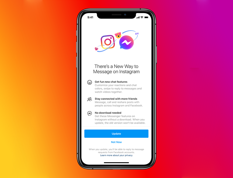 Facebook Launched Cross-App Messaging on Instagram and Messenger