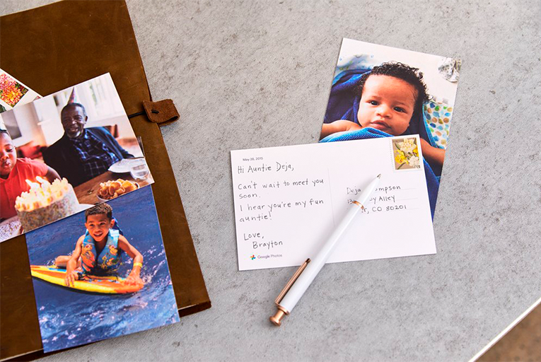 Photos can be turned into postcards