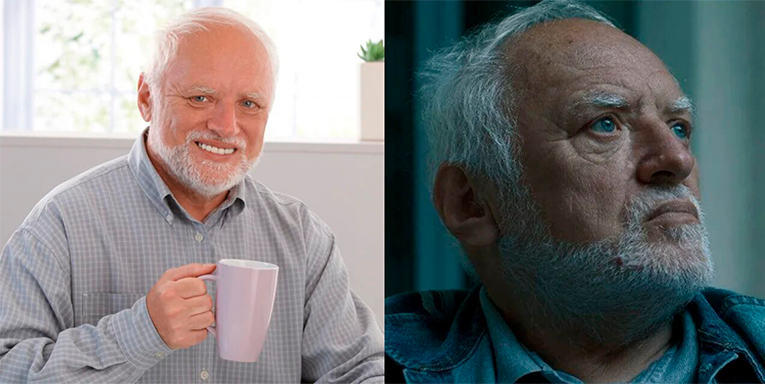 Harold Hiding the Pain meme