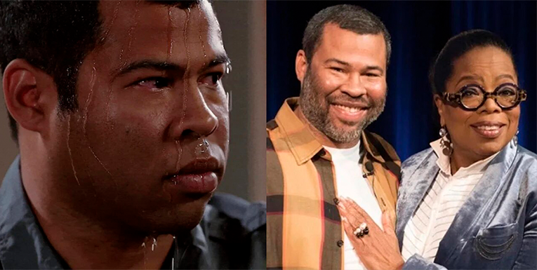 Sweating Jordan Peele meme