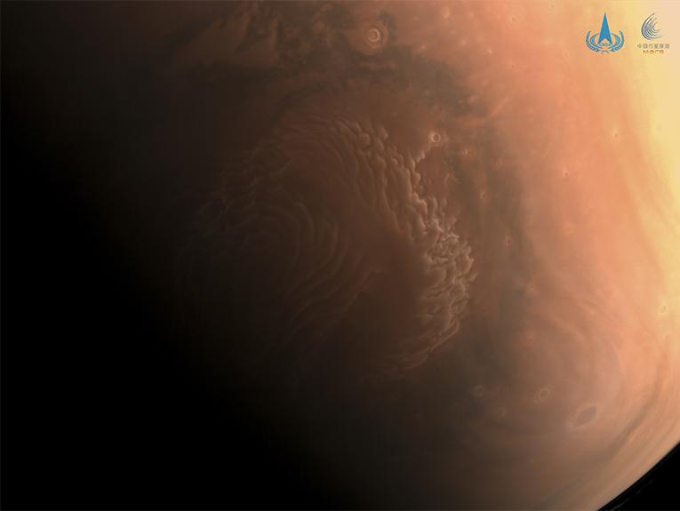 The north polar cap of Mars