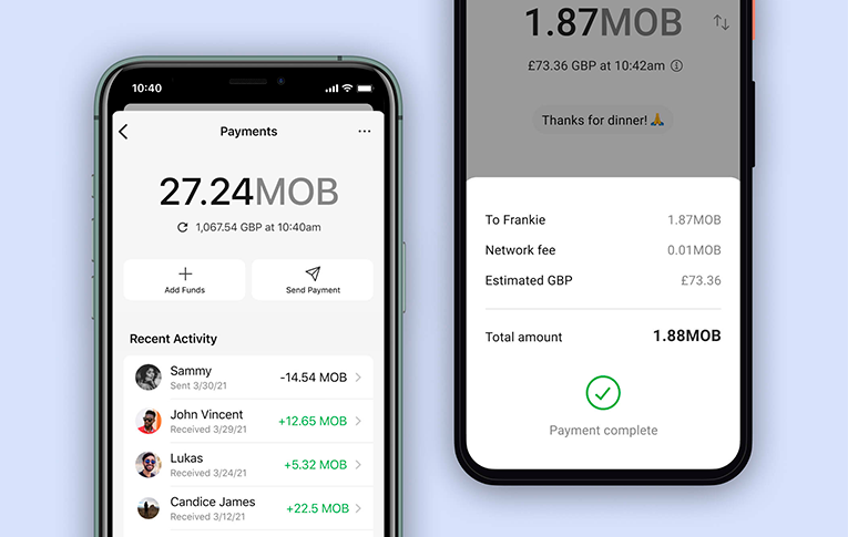 Signal Payments interface
