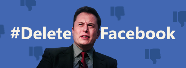 "Elon Musk Tweets #DeleteFacebook and Says ""It's Lame"""