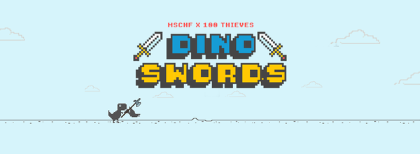Google's T-Rex Browser Game Received a Mod With Double Swords