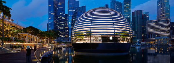 The First Floating Apple Store at Marina Bay Sands Opened Its Doors