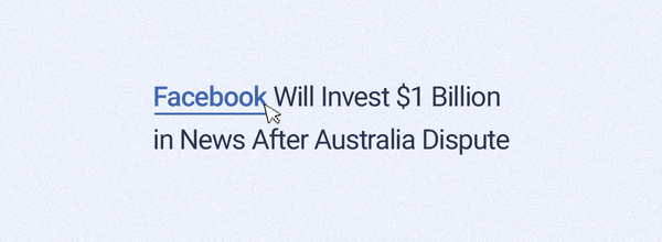 Facebook Will Invest $1 Billion in News After Australia Dispute