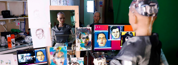 An NFT Artwork Created by Sophia the Robot Sold for $688,000